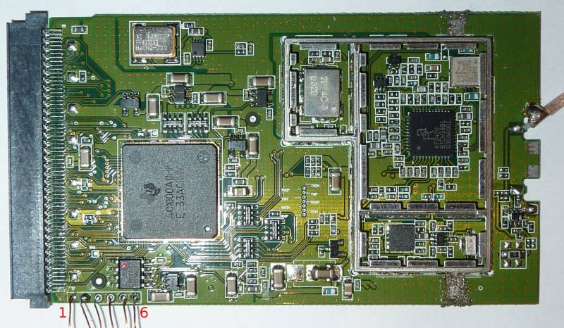 ACX100 card with JTAG header